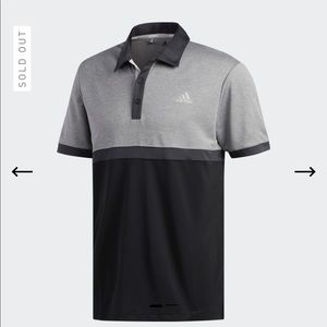 Adidas Heater Color-block Polo Shirt